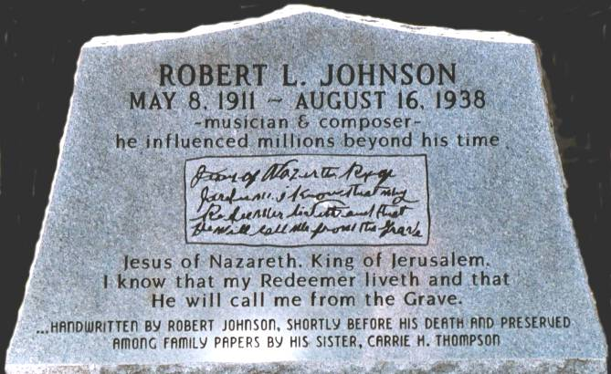 Robert Johnsons grave marker