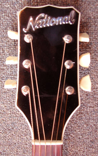 National guitar - headstock
