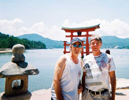Slim & Baz in Japan, after the festival.