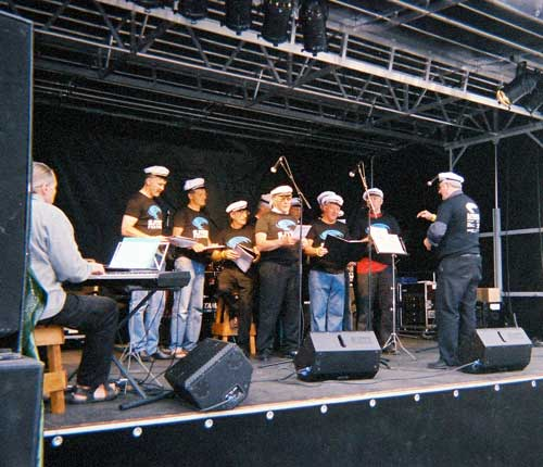 Værøy men's choir.