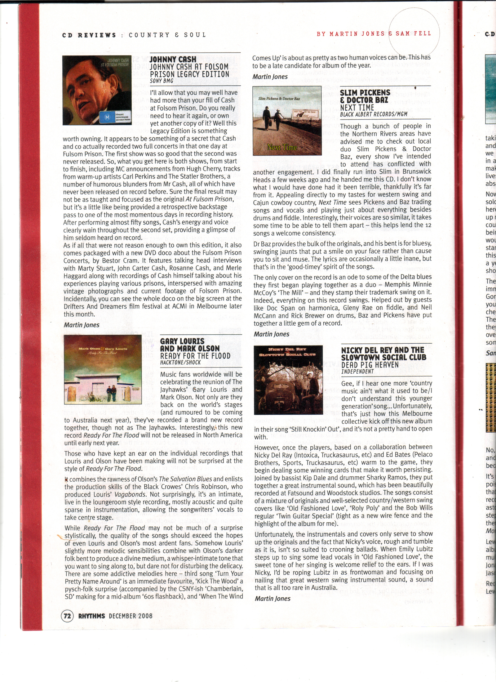 Review of Next Time CD in Rhythms Magazine